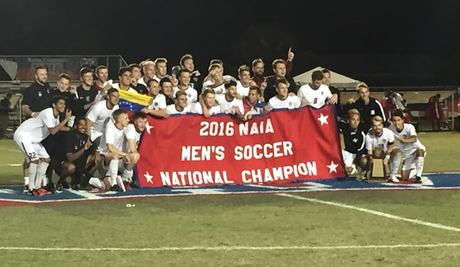Photo for Men's Soccer Claims National Title on Venegas Goal
