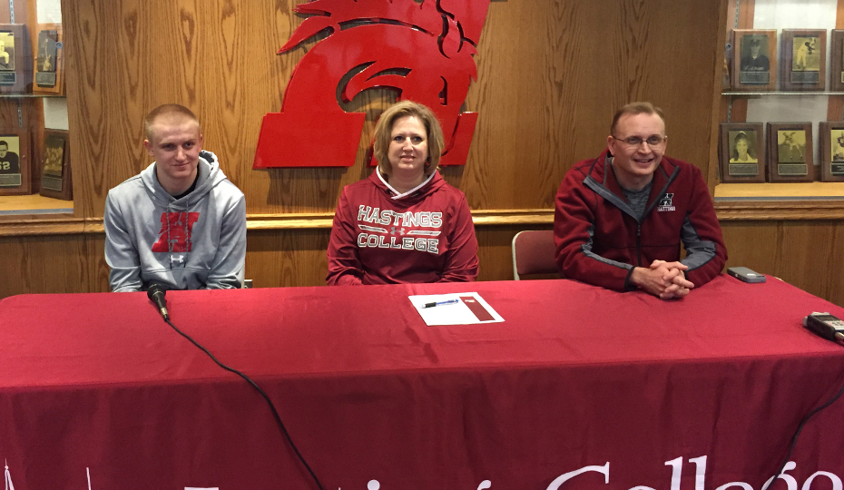 Photo for David Bohlen of Adams Central Signs to Play Basketball at HC