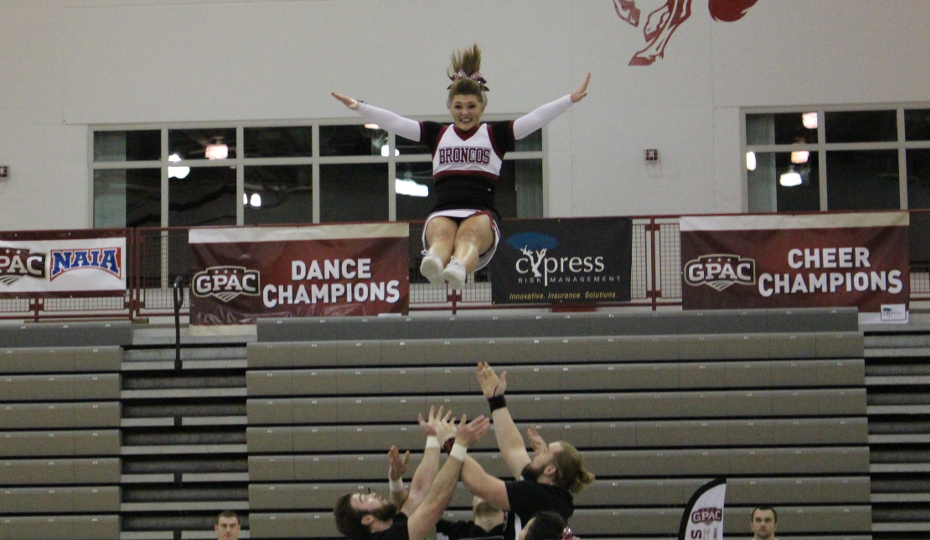 Photo for Cheer Places 2nd at GPAC Championships