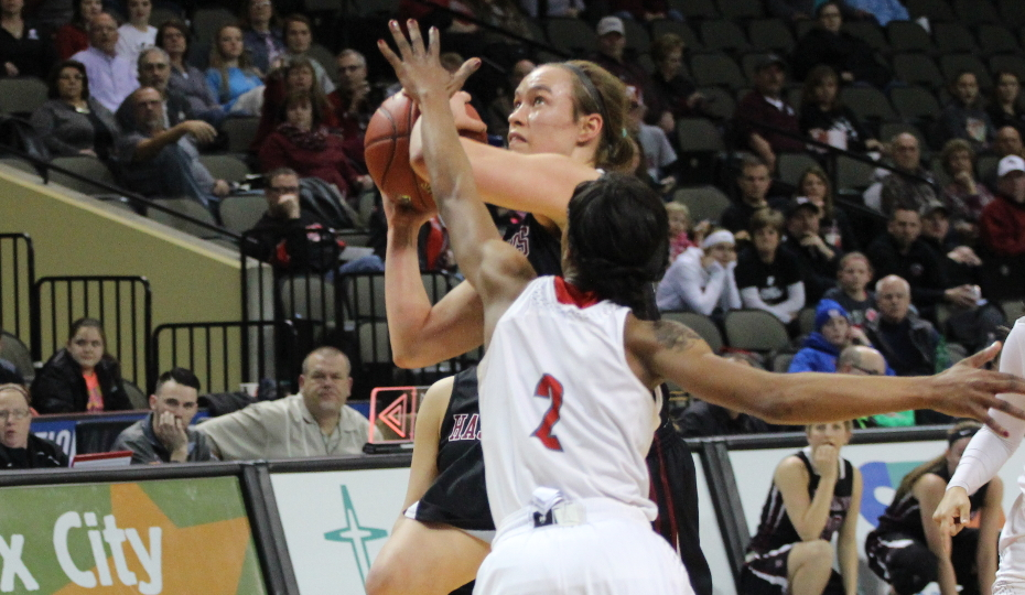 Photo for Gritty Effort Not Enough as Women's Basketball Defeated by Friends