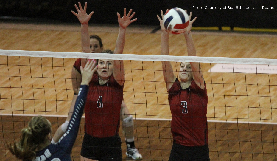 Photo for Volleyball Bounces MBU; Locks Down Knockout Round Birth