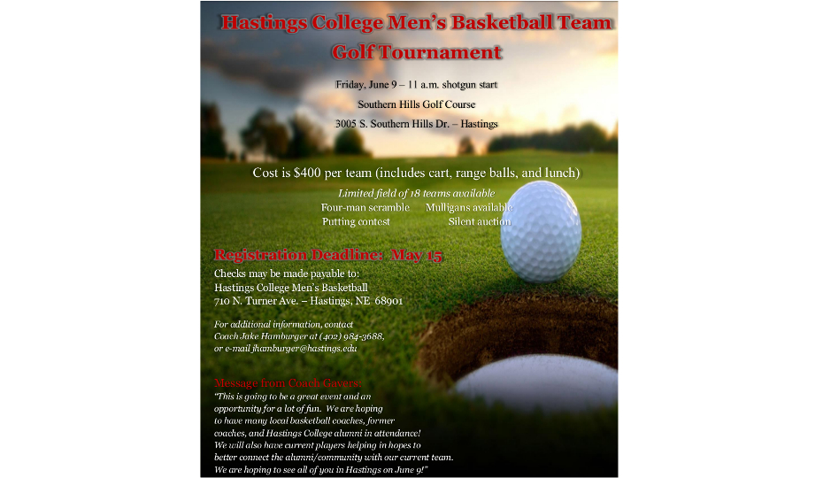 Photo for Men's Basketball Golf Outing Set For June 9