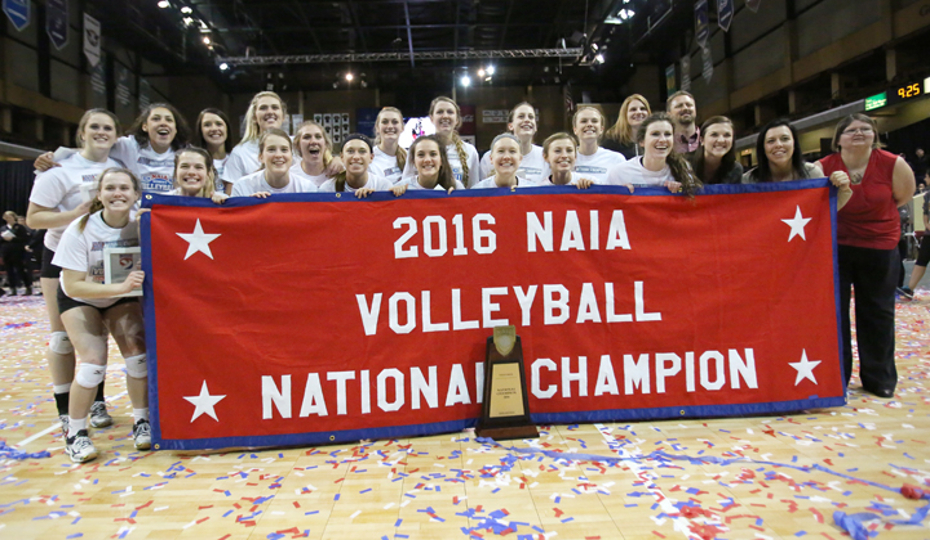 Photo for Hastings Broncos complete comeback for first NAIA Volleyball Championship