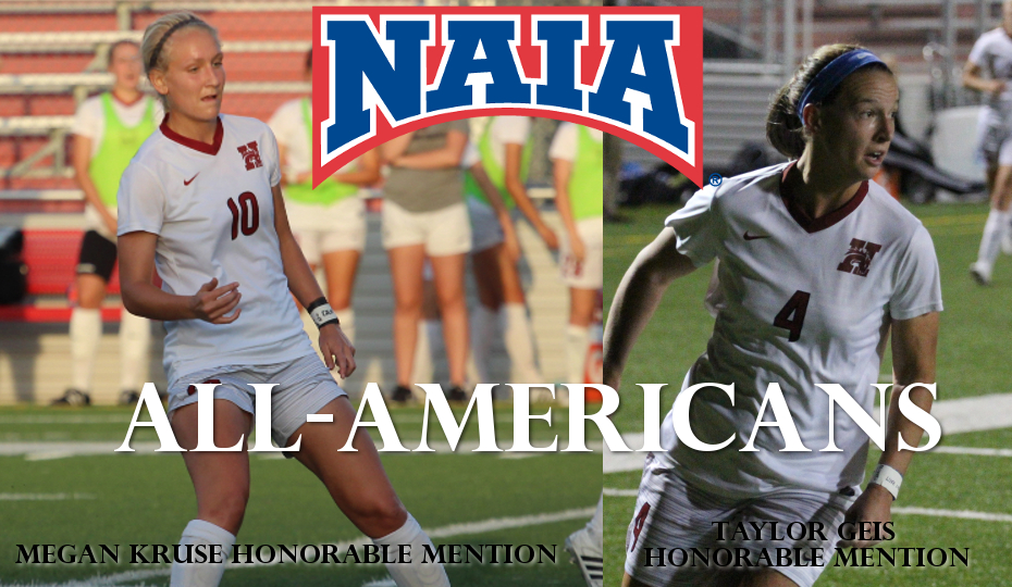 Photo for Kruse and Geis Earn Honorable Mention All-America Honors